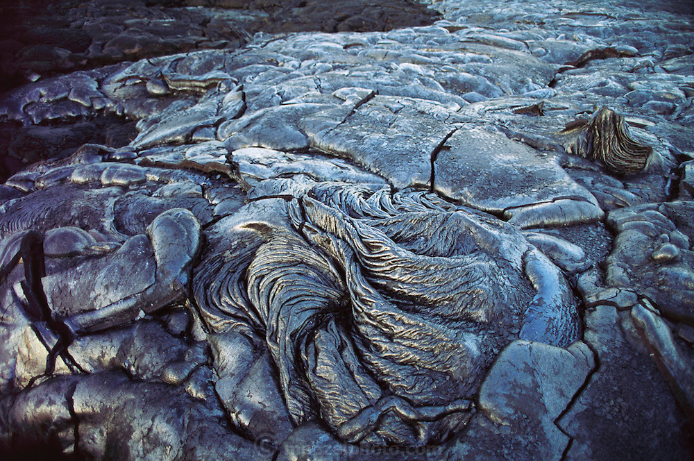 New Lava flow on Kilauea Volcano. Kilauea most recently erupted in 1983 and lava has flown consistently since then. It is one of the world's most active volcanoes. Hawaii, Big Island.