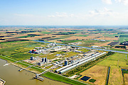 Nederland, Groningen, Delfzijl, 05-08-2014; haven Delfzijl met Chemie Park Delfzijl en aluminiumsmelter Aldel.<br /> Delfzijl, port and Chemical Park Delfzijl. <br /> luchtfoto (toeslag op standard tarieven);<br /> aerial photo (additional fee required);<br /> copyright foto/photo Siebe Swart