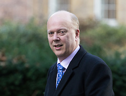 Downing Street, London, February 28th 2017. Transport Secretary Chris Grayling attends the weekly cabinet meeting at 10 Downing Street in London.