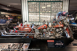 Felix Predko's King Kong custom twin-engine Knucklehead dresser built between 1949 and 1953 on display at the Harley-Davidson Museum during the Milwaukee Rally. Milwaukee, WI, USA. Saturday, September 3, 2016. Photography ©2016 Michael Lichter.