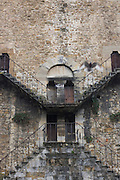 Decaying medieval gate house once near city walls, now in Piazza Guiseppe Poggi on Florence's south bank.