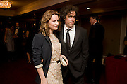 STEPHEN MANGAN; LOUISE DELAMERE, The Laurence Olivier Awards, The Grosvenor House Hotel. Park Lane. London. 8 March 2009 *** Local Caption *** -DO NOT ARCHIVE -Copyright Photograph by Dafydd Jones. 248 Clapham Rd. London SW9 0PZ. Tel 0207 820 0771. www.dafjones.com<br /> STEPHEN MANGAN; LOUISE DELAMERE, The Laurence Olivier Awards, The Grosvenor House Hotel. Park Lane. London. 8 March 2009