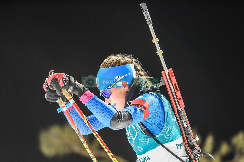 February 12, 2018 - Pyeongchang, Gangwon, South Korea - Nicole Gontier ofItaly  competing at Women's 10km Pursuit, Biathlon, at olympics at Alpensia biathlon stadium, Pyeongchang, South Korea. on February 12, 2018. (Credit Image: © Ulrik Pedersen/NurPhoto via ZUMA Press)