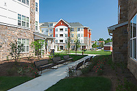 Architectural images of Columbia Maryland apartment community and senior living center at Monarch Mills