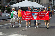 Machers from St. George's Episcopal Church in Maplewod New Jersey. There were a few Episcopal contingents in the parade.
