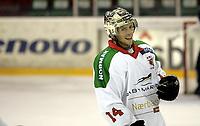 Ishockey<br /> GET-Ligaen<br /> 18.09.07<br /> Jordal Amfi<br /> Vålerenga VIF - Frisk Asker Tigers<br /> Cameron Abbott var sentral for Frisk<br /> Foto - Kasper Wikestad