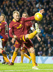 Motherwell's Richard Tait during the Ladbrokes Scottish Premiership match at Ibrox Stadium, Glasgow. PRESS ASSOCIATION Photo. Picture date: Sunday November 11, 2018. See PA story SOCCER Rangers'. Photo credit should read: Jeff Holmes/PA Wire. EDITORIAL USE ONLY