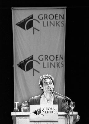 Nederland, Arnhem, 15-5-1989Toekomstig partijleider en fractievoorzitter Paul Rosenmuller tijdens een congres in Musis Sacrum.Foto: Flip Franssen