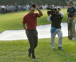 August 12, 2018 - St. Louis, Missouri, U.S. - ST. LOUIS, MO - AUGUST 12: Tiger Woods comes off of the 18th hole after finishing second during the final round of the PGA Championship on August 12, 2018, at Bellerive Country Club, St. Louis, MO.  (Photo by Keith Gillett/Icon Sportswire) (Credit Image: © Keith Gillett/Icon SMI via ZUMA Press)