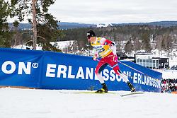 March 16, 2019 - Falun, SVERIGE - 190316  Johannes Hoesflot Klaebo of Norway  during the FIS Cross-Country World Cup on march 16, 2019 in Falun  (Credit Image: © Daniel Eriksson/Bildbyran via ZUMA Press)