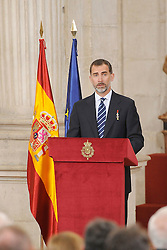 24.06.2015, Palacio Real, Madrid, ESP, Festakt zu 30 Jahre EU Mitgliedschaft Spaniens, im Bild King Felipe VI of Spain // attends the 30th Anniversary of Spain being part of European Communities at the Palacio Real in Madrid, Spain on 2015/06/24. EXPA Pictures © 2015, PhotoCredit: EXPA/ Alterphotos/ POOL/ Ricardo Garcia<br /> <br /> *****ATTENTION - OUT of ESP, SUI*****