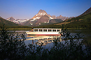 Tour boat on Swiftcurrent Lake, Glacier National Park