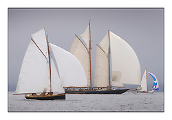 Ayrshire Lass 1887 Gaff Cutter, Mariette 1915 Gaff Schooner and Rosemary 1925 Bermudan Sloop. ..Sunday race from Largs to Rhu started damp but briefly lifted for a downwind race to the upper Clyde...* The Fife Yachts are one of the world's most prestigious group of Classic .yachts and this will be the third private regatta following the success of the 98, .and 03 events.  .A pilgrimage to their birthplace of these historic yachts, the 'Stradivarius' of .sail, from Scotland's pre-eminent yacht designer and builder, William Fife III, .on the Clyde 20th -27th June.   . ..More information is available on the website: www.fiferegatta.com . .Press office contact: 01475 689100         Lynda Melvin or Paul Jeffes