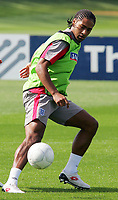 England training session at London Colney 01/09/09<br /> Photo Nicky Hayes Fotosports International<br /> Glen Johnson on the ball in training.