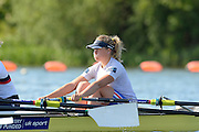 Caversham, Great Britain, GBR W4X. Bow Caragh McMURTY.  GB Rowing media day, 2013 World Cup Team Announcement  at the Redgrave Pinsent Rowing Lake. GB Rowing Training centre. Wednesday  05/06/2013  [Mandatory Credit. Peter Spurrier/Intersport Images]