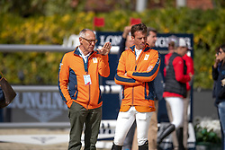 Ehrens Rob, NED, Chef d'Equipe, Smolders Harrie, NED<br /> Longines FEI Jumping Nations Cup™ Final<br /> Barcelona 20128<br /> © Hippo Foto - Dirk Caremans<br /> 07/10/2018