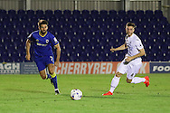 AFC Wimbledon defender George Francomb (7) during the EFL Trophy match between AFC Wimbledon and U23 Swansea City at the Cherry Red Records Stadium, Kingston, England on 30 August 2016. Photo by Stuart Butcher.