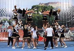 NRC Tigers Senior Elite all Female, Norway during All Female senior at second day of European Cheerleading Championship 2008, on July 6, 2008, in Arena Tivoli, Ljubljana, Slovenia. (Photo by Vid Ponikvar / Sportal Images).