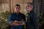 COLUMBIA, MD -- 12/20/14 -- Mark Johnson-Lewis, 48, and his son, Tyler Lewis, 22, talk about the complexity of being a biracial family..…by André Chung #_AC23057
