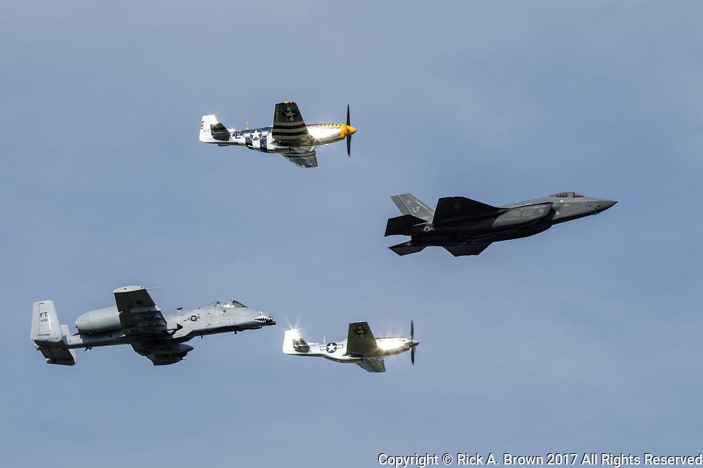 USAF Heritage Flight at Airventure 2017.