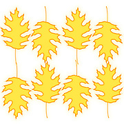Digitally enhanced image of a multi oak leaf pattern on white background