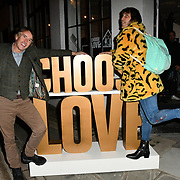 Steve Coogan and Noel Gallagher arrives at Choose Love shop launch at Foubert's Place, Carnaby on 22 November 2018, London, UK.