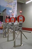 LISBOA-6 NOVEMBRO:Fotos dos torniquetes do novo estádio da Luz, no dia do Jogo da 1º Mão da 2º eliminatória da taça UEFA entre o S.L.Benfica e o Molde F.K 06-11-2003 21:00 no estádio da Luz<br />(PHOTO BY: AFCD/NUNO ALEGRIA)