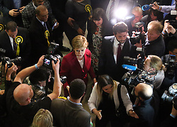 First Minister Nicola Sturgeon arrives at the Emirates Arena in Glasgow, as counting is under way for the General Election.