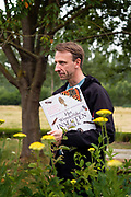 Zwalm, Belgium, 27 jun 2017, Vart Rossel, ceo of Oystershell, wrote a book for children about insects.