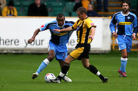 Photo: Pete Lorence.<br />Boston United v Wycombe Wanderers. Coca Cola League 2. 28/10/2006.<br />Wycombe's Kevin Betsy is foiled by the Boston defence.
