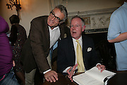 Nick Morris and Michael Whitehall , Book launch for 'Shark Infested Waters' by Michael Whitehall. Belgrave Sq. London. 12 June 2007.  -DO NOT ARCHIVE-© Copyright Photograph by Dafydd Jones. 248 Clapham Rd. London SW9 0PZ. Tel 0207 820 0771. www.dafjones.com.