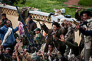 Members of newly formed community militias on an anti aircraft gun in Benghazi on Feb. 26, 2011.
