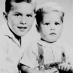 HS378   George W. Bush with his brother, Jeb, circa 1955.<br /> Photo Credit:  George Bush Presidential Library