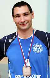 Alan Komel of Salonit at 4th and final match of Slovenian Voleyball  Championship  between OK Salonit Anhovo (Kanal) and ACH Volley (from Bled), on April 23, 2008, in Kanal, Slovenia. The match was won by ACH Volley (3:1) and it became Slovenian Championship Winner. (Photo by Vid Ponikvar / Sportal Images)/ Sportida)