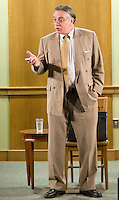 """Richard Clarke portrays """"Atticus Finch"""" at the Laconia Public Library March 18, 2010...."""