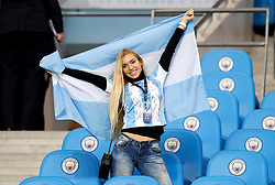 An Argentina fan in the stands during the international friendly match at the Eithad Stadium, Manchester.