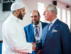 The Prince of Wales with Imam Mohammed Mahmoud during a visit to Muslim Welfare House in north London, to meet members of the local community and hear about the community response following the recent terrorist attack.