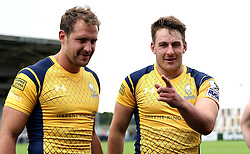 Jaike Carter and Craig Jackson of Worcester Warriors pose for a picture - Mandatory by-line: Robbie Stephenson/JMP - 30/07/2016 - RUGBY - Kingston Park - Newcastle, England - Worcester Warriors v Sale Sharks - Singha Premiership 7s