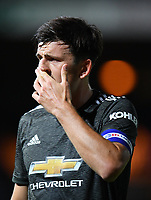 Football - 2020 / 2021 EFL Carabao Cup - Round Three - Luton Town vs Manchester United<br /> <br /> Manchester United's Harry Maguire, at Kenilworth Road.<br /> <br /> COLORSPORT/ASHLEY WESTERN