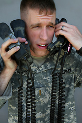 2nd Lieutenant Roderic O'Connor, 24. Harrisburg, Pennsylvania. Soldiers from Alpha Battery 3-321 Field Artillery in Afghanistan's eastern Khost Province at the Terezayi District Center near the Afghan-Pakistan border on Friday Oct. 17, 2008.
