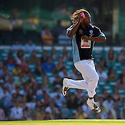 Lote Tuqiri in action during Australia's Big Bash Cricket match to raise money for the Victorian Bush Fire Appeal. Photo Tim Clayton
