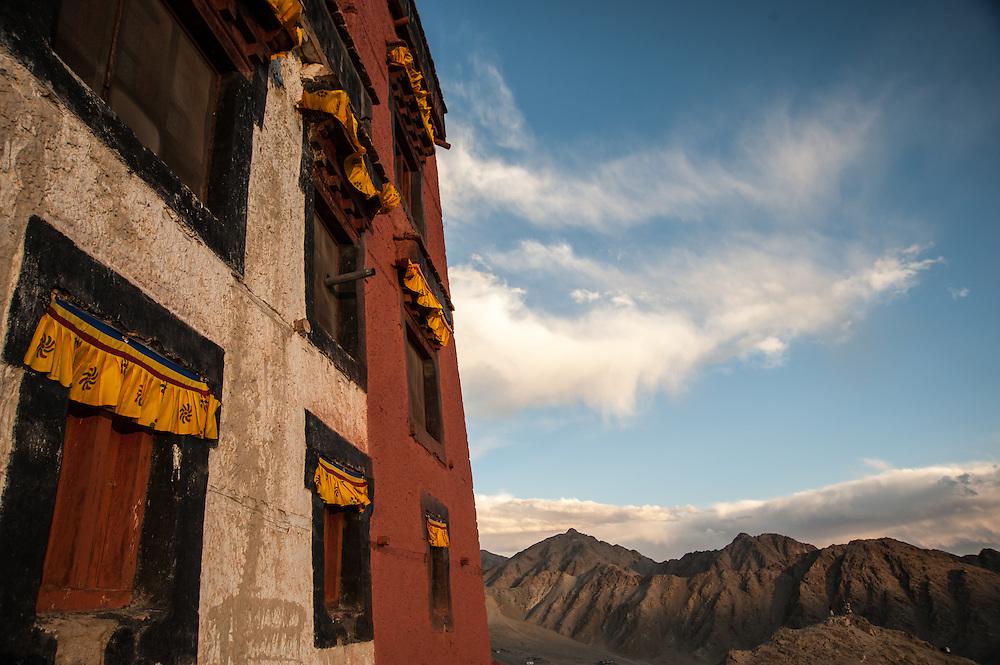 Thiksey Monastery and the Ladakh range of the Himalaya