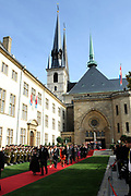 Religious wedding of Grand Duke Guillaume and Princess Stephanie at the Cathedral Notre-Dame in Luxembourg <br /> <br /> On the photo: Cathedral Notre-Dame in Luxembourg