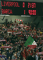 Photo: Paul Thomas.<br /> Liverpool v Barcelona. UEFA Champions League. Last 16, 2nd Leg. 06/03/2007.<br /> <br /> Final Score.
