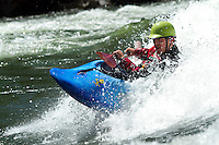 Kayaking on the Main Salmon River in central Idaho.