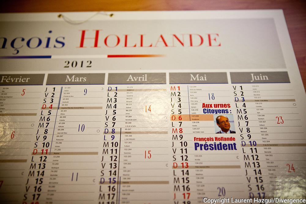 11012012. Paris. 59 avenue de Ségur 75007. HOLLANDE 2012. Inauguration du siège de campagne de François Hollande.