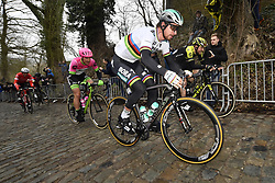 March 23, 2018 - Harelbeke, BELGIUM - Slovakian Peter Sagan of Bora-Hansgrohe pictured in action during the 61st edition of the 'E3 Prijs Vlaanderen Harelbeke' cycling race, 206,5 km from and to Harelbeke, Friday 23 March 2018...BELGA PHOTO DIRK WAEM (Credit Image: © Dirk Waem/Belga via ZUMA Press)