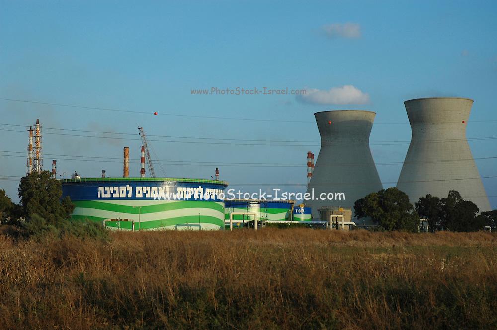 Israel, Haifa bay, The oil refinery