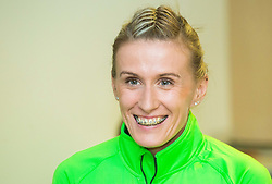 Sonja Roman during press conference of Slovenian Team for European Indoor Athletics Championships Prague 2015, on March 4, 2015 in Ljubljana, Slovenia. Photo by Vid Ponikvar / Sportida
