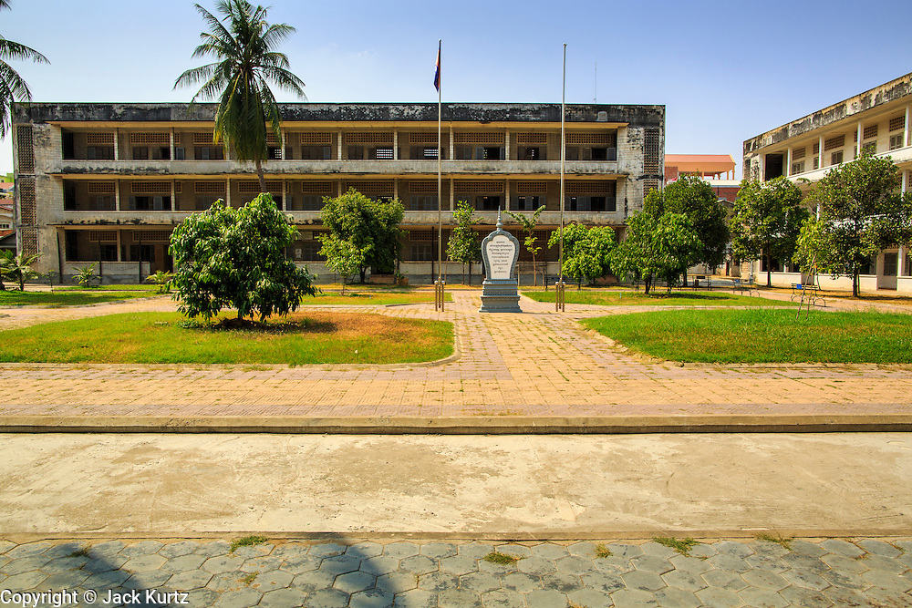 30 JANUARY 2013 - PHNOM PENH, CAMBODIA:  The Tuol Sleng Genocide Museum  in Phnom Penh. It is a former high school that was used as the Security Prison 21 (S-21) by the Khmer Rouge from 1975 to 1979. It was used to torture and execute Cambodians and foreigners the Khmer Rouge thought were opposed to the regime.     PHOTO BY JACK KURTZ